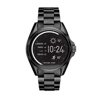 LMFMS6 Michael Kors Access Unisex 45mm Black IP Bradshaw Chronograph Smart Watch