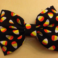 Candy Corn Halloween Hair Bow by OhSoCr8tive on Etsy