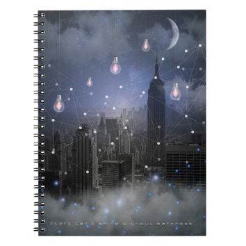 Stars Cannot Shine Without Darkness Notebook