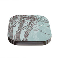 "Sam Posnick ""Winter Trees"" Coasters (Set of 4)"