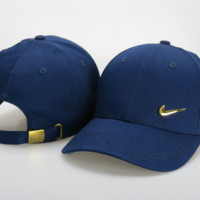 Retro Blue Nike Embroidered Adjustable Outdoor Baseball Cap Hats