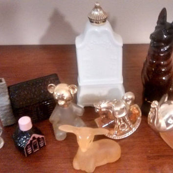 SALE Vintage LOT AVON Collectible Perfume and Cologne Bottles