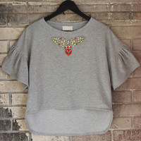 Terry Embellished Top