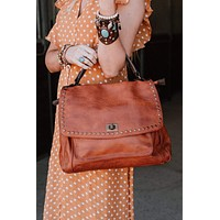 Loved Leather Hobo Bag - Brown