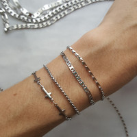 Delicate Stainless Steel Collection - Layering Chain Bracelets