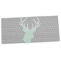 "Pellerina Design ""Winter Deer"" Gray Green Desk Mat"