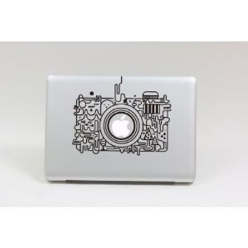 Top Decal Lovely Camera - Macbook Decal Sticker Humor Partial Art Skin Protector