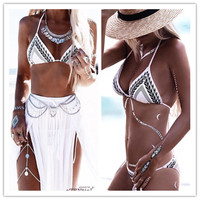 Hot Swimsuit New Arrival Beach Sexy Summer Print Classics Swimming Ladies Bikini [4970314436]