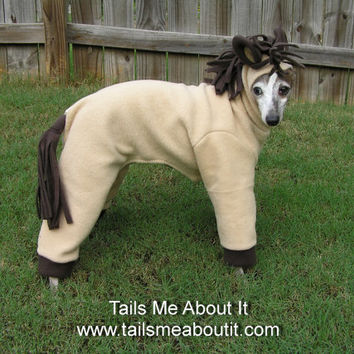 Horse Dog Costume - Halloween costume - Italian Greyhound, Chinese Crested, etc - Tails Me About It original
