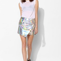 UNIF Meta Hologram Mini Skirt - Urban Outfitters