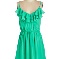 ModCloth Mid-length Spaghetti Straps A-line Spring to Fruition Dress