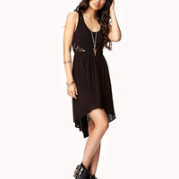 Crocheted Panel High-Low Dress | FOREVER 21 - 2027706288