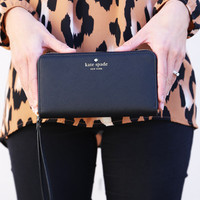 Kate Spade New York Zip Wristlet {Black}
