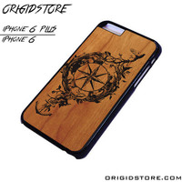 Compass Wood Case For Iphone 6/6Plus Case