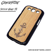 Anchor Wood Texture Case For Samsung Galaxy S3 Case