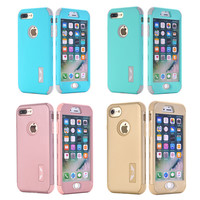 Shockproof Full Protective Case for iPhone 7/7 Plus 6 6S Plus 5 5S SE Luxury Hybrid Silicone Armor Hard Back Cover for 7/7 Plus