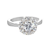 Sterling Silver 1.25ct Cubic Zirconia Engagement Ring Clear CZ - 7mm