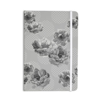 """Pellerina Design """"Lace Peony in Gray"""" Grey Floral Everything Notebook"""