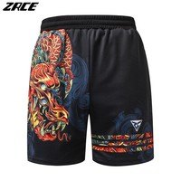 ZRCE Men Training Football Basketball Gym Loose Shorts Bodybuilding Zipper Fitness Crossfit Short Breathable Polyester Trousers