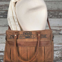 Leather and Canvas June Dairy Messenger Bag