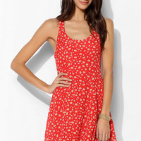 Lucca Couture Silky Cross-Back Skater Dress - Urban Outfitters