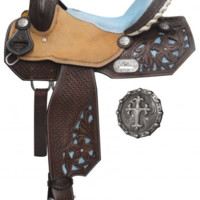 Saddles Tack Horse Supplies - ChickSaddlery.com Double T Barrel Style Saddle With Sting Ray Print Seat
