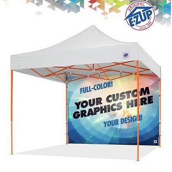 12ft Custom E-Z Up Pop Up Tent Canopy Back Wall with Digital Print