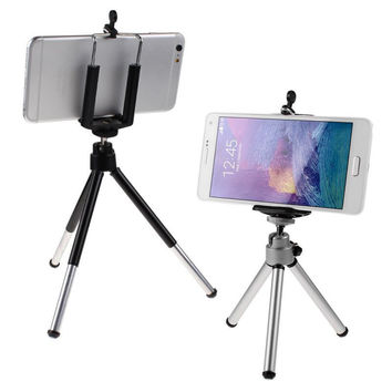 Universal Mini Stand Extended Tripod Mount Phone Holder for Smart Phones Camera Free Shipping