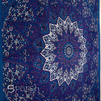 Star Mandala Hippie Tapestry, Hippie Mandala Wall Hanging, Indian Bedspread Bed Sheet Cover Throw, Bohemian tapestry