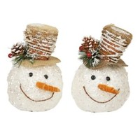 Icy Twigs Snowman Heads
