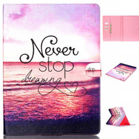 Never Stop creative case Wallet for iPad Pro 12.9