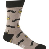 Sock It To Me Whiskey and Mustaches Men's Sock
