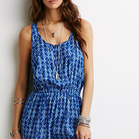 Abstract Tribal Print Romper