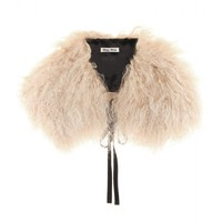 miu miu - shearling collar