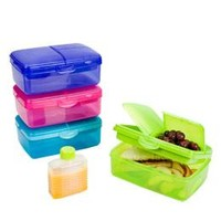 Slimline Quaddie Lunchbox | The Container Store