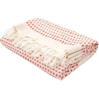 Red Dot Cotton Throw Blanket
