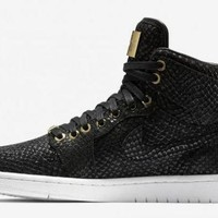 DCCKY4E Nike Air Jordan Pinnacle Black Metallic & Gold Men Sports Basketball Shoes