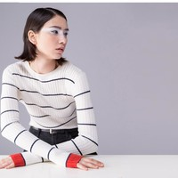 """""""SOLID STRIPED"""" SWEATER"""