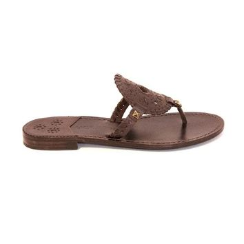 Jack Rogers Georgica - Dark Brown Flat Sandal