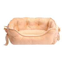 4 Colors Bow Princess Pet Dog Bed Soft Fleece Cat House Winter Warm Small Puppy Bed 48*38cm