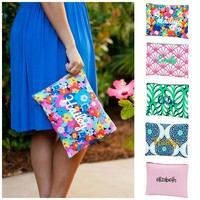Personalized Monogrammed Large Cosmetic Bag