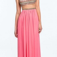 Illusion Two-Piece Prom Dress by Terani Couture