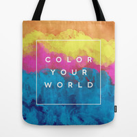 Color Your World Tote Bag by Galaxy Eyes