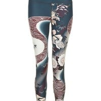 Contour Luxe 7/8 Workout Leggings - SunriseTranquilRiverPrint | leggings | Sweaty Betty