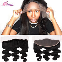 8A Raw Virgin Brazilian Lace Frontal closure Bleach Knot Frontal cheap Body Wave Full Lace ear to ear closure 13 x4
