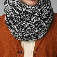Marled Cable-Knit Eternity Scarf-