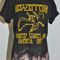 Led Zeppelin Distressed Tee / top
