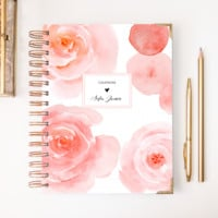 2018 Classic Planner – Watercolor Rose