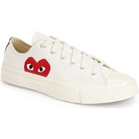 Comme des Garçons PLAY x Converse Chuck Taylor® Hidden Heart Low Top Sneaker (Women) | Nordstrom