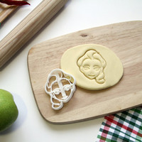 Elsa Cookie Cutter Frozen Princess Elsa Cookie Cutter Disney Cupcake topper Fondant Gingerbread Cutters - Made from Eco Friendly Material